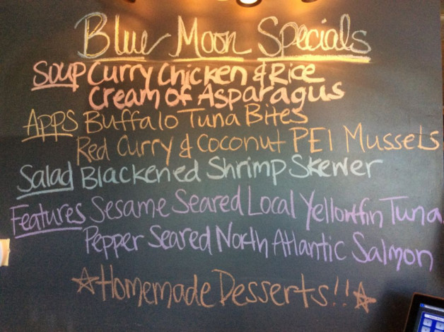 Monday Dinner Specials – June 26th 2017
