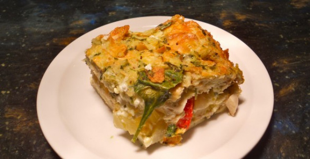 Savory Mediterranean Bread Pudding by Chef Jerry Sullivan